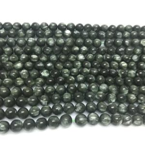 Shop Seraphinite Beads! Natural Seraphinite 6.5-7mm Round Genuine Green Gemstone GradeAA Loose Beads 15inch Jewelry Supply Bracelet Necklace Material Wholesale | Natural genuine round Seraphinite beads for beading and jewelry making.  #jewelry #beads #beadedjewelry #diyjewelry #jewelrymaking #beadstore #beading #affiliate #ad