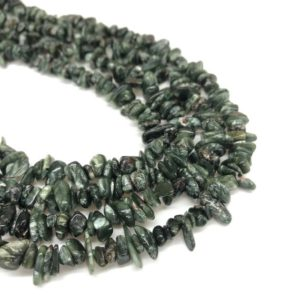 Shop Seraphinite Beads! Natural Seraphinite Chips Beads, Crystal Chips, Loose Beads, Healing Crystal, Gem Chips for Bracelet and Necklace | Natural genuine chip Seraphinite beads for beading and jewelry making.  #jewelry #beads #beadedjewelry #diyjewelry #jewelrymaking #beadstore #beading #affiliate #ad