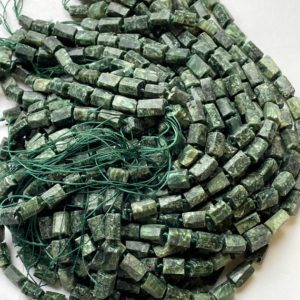 Shop Seraphinite Beads! Natural seraphinite stone bead. Faceted tuba shape bead. Beautiful natural green seraphinite gemstone . Great quality gemstone. 15.5 strand | Natural genuine faceted Seraphinite beads for beading and jewelry making.  #jewelry #beads #beadedjewelry #diyjewelry #jewelrymaking #beadstore #beading #affiliate #ad