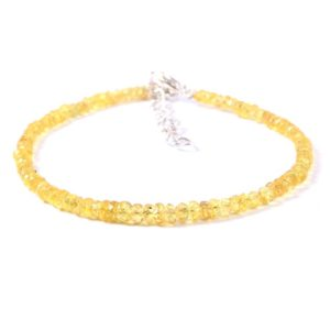 Shop Yellow Sapphire Bracelets! Natural Yellow Sapphire Facted Rondelle Beads Bracelet 7 Inches AAA+++ Quality, 100% Natural Yellow Sapphire Earth Mine Sapphire   Natural genuine Yellow Sapphire bracelets. Buy crystal jewelry, handmade handcrafted artisan jewelry for women.  Unique handmade gift ideas. #jewelry #beadedbracelets #beadedjewelry #gift #shopping #handmadejewelry #fashion #style #product #bracelets #affiliate #ad