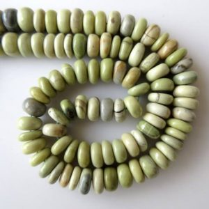 Shop Serpentine Rondelle Beads! Natural Yellow Serpentine Rondelle Beads, 10mm Smooth Serpentine Rondelle Beads, 16 Inch Strand, GDS671 | Natural genuine rondelle Serpentine beads for beading and jewelry making.  #jewelry #beads #beadedjewelry #diyjewelry #jewelrymaking #beadstore #beading #affiliate #ad