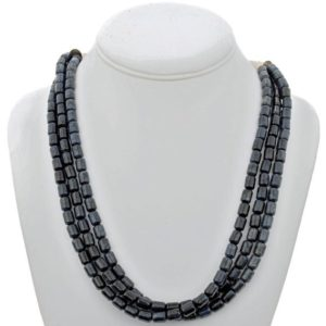 Shop Dumortierite Necklaces! Navajo Blue Necklace Three Strand Dumortierite Beads | Natural genuine Dumortierite necklaces. Buy crystal jewelry, handmade handcrafted artisan jewelry for women.  Unique handmade gift ideas. #jewelry #beadednecklaces #beadedjewelry #gift #shopping #handmadejewelry #fashion #style #product #necklaces #affiliate #ad
