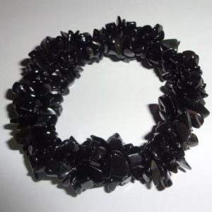 Natural Black Obsidian Triple Twist Woven Crystal Healing Chip Gemstone Energy Stretch Bracelet –  All Gems Are 100% Natural AA Quality | Natural genuine Gemstone bracelets. Buy crystal jewelry, handmade handcrafted artisan jewelry for women.  Unique handmade gift ideas. #jewelry #beadedbracelets #beadedjewelry #gift #shopping #handmadejewelry #fashion #style #product #bracelets #affiliate #ad