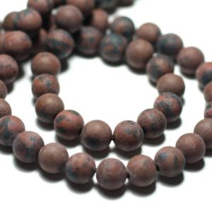 Shop Obsidian Bead Shapes! Wire 39cm 45pc env – stone beads – Obsidian Brown mahogany Mahogany balls 8 mm matte Frost sand | Natural genuine other-shape Obsidian beads for beading and jewelry making.  #jewelry #beads #beadedjewelry #diyjewelry #jewelrymaking #beadstore #beading #affiliate #ad