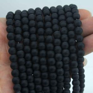 6mm Obsidian Beads,black gemstone beads, obsidian beads,black round  Obsidian beads.—61Pieces—15-16 inches–NF046 | Natural genuine round Obsidian beads for beading and jewelry making.  #jewelry #beads #beadedjewelry #diyjewelry #jewelrymaking #beadstore #beading #affiliate #ad
