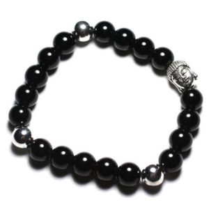 Buddha and gemstone – 8mm black Onyx bracelet | Natural genuine Gemstone bracelets. Buy crystal jewelry, handmade handcrafted artisan jewelry for women.  Unique handmade gift ideas. #jewelry #beadedbracelets #beadedjewelry #gift #shopping #handmadejewelry #fashion #style #product #bracelets #affiliate #ad