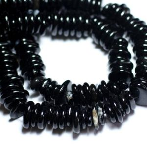 Shop Onyx Chip & Nugget Beads! Wire 39cm 110pc env – beads of stone – Onyx Black Chips shuffleboard pucks 10-15mm | Natural genuine chip Onyx beads for beading and jewelry making.  #jewelry #beads #beadedjewelry #diyjewelry #jewelrymaking #beadstore #beading #affiliate #ad