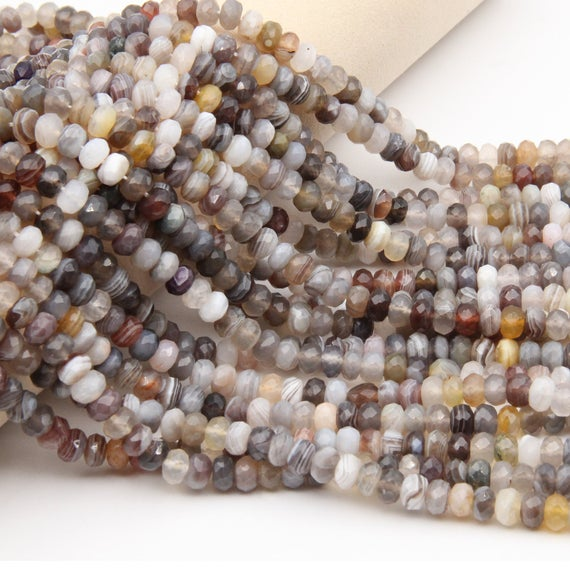 Onyx Rondelle Faceted Beads,4x6mm/5x8mm Rondelle Faceted Beads,good Quality Onyx Gemstone Faceted Beads,natural Onyx Rondelle Stone Beads.