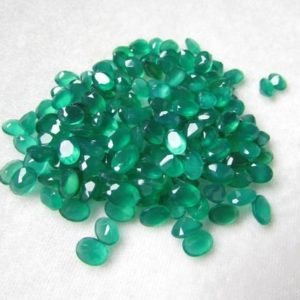 Shop Onyx Shapes! 10 Pieces 6x8mm Green Onyx Faceted Oval Shape Aaa Quality Gemstone….. Green Onyx Oval Faceted Loose Gemstone | Natural genuine stones & crystals in various shapes & sizes. Buy raw cut, tumbled, or polished gemstones for making jewelry or crystal healing energy vibration raising reiki stones. #crystals #gemstones #crystalhealing #crystalsandgemstones #energyhealing #affiliate #ad