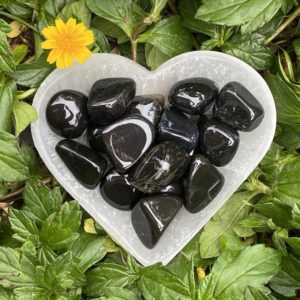 Black Onyx, Black Onyx Tumbled Stone, Black Onyx Tumble, Polished Onyx | Natural genuine stones & crystals in various shapes & sizes. Buy raw cut, tumbled, or polished gemstones for making jewelry or crystal healing energy vibration raising reiki stones. #crystals #gemstones #crystalhealing #crystalsandgemstones #energyhealing #affiliate #ad