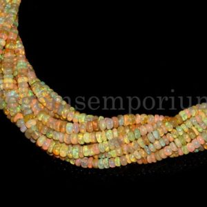 Shop Opal Rondelle Beads! Natural Ethiopian Opal Beads, Smooth Rondelle, AAA Quality Fire Opal Rondelle Beads, Flashy Plain Opal Beads, Opal Rondelles | Natural genuine rondelle Opal beads for beading and jewelry making.  #jewelry #beads #beadedjewelry #diyjewelry #jewelrymaking #beadstore #beading #affiliate #ad