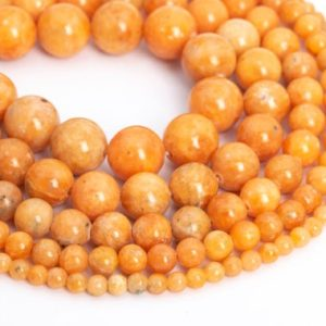 Genuine Natural Orange Calcite Loose Beads Round Shape 6mm 8mm 10mm 12mm | Natural genuine beads Gemstone beads for beading and jewelry making.  #jewelry #beads #beadedjewelry #diyjewelry #jewelrymaking #beadstore #beading #affiliate #ad