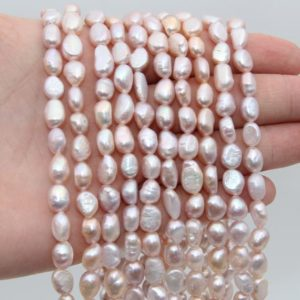 Shop Freshwater Pearls! 7~8MM Nugget Pearl Beads,Lavender Color Pearl,Natural Freshwater Pearl Beads,Seed Pearl,Luster Pearl,Loose Pearl Strand Beads,Pearl Jewelry. | Natural genuine beads Pearl beads for beading and jewelry making.  #jewelry #beads #beadedjewelry #diyjewelry #jewelrymaking #beadstore #beading #affiliate #ad