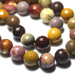 Shop Pearl Faceted Beads! 2pc – Stone Pearls – Jaspe Mokaite Faceted Balls 10mm 4558550025364 | Natural genuine faceted Pearl beads for beading and jewelry making.  #jewelry #beads #beadedjewelry #diyjewelry #jewelrymaking #beadstore #beading #affiliate #ad