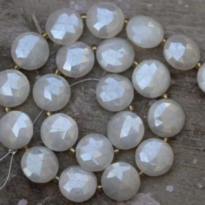 Shop Pearl Faceted Beads! Natural 20 piece faceted silverite disk gemstone briolette beads, 12 mm app, Low price, silverite fancy round, silverite pearl, beads sale | Natural genuine faceted Pearl beads for beading and jewelry making.  #jewelry #beads #beadedjewelry #diyjewelry #jewelrymaking #beadstore #beading #affiliate #ad