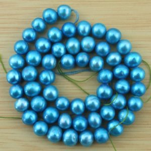 Shop Pearl Bead Shapes! 6-7 mm Freshwater Pearls Beads  Natural Pearl beads pearl beads  Blue pearl beads One Strands,Gemstone Beads–56Pcs–15 inches  –FS63 | Natural genuine other-shape Pearl beads for beading and jewelry making.  #jewelry #beads #beadedjewelry #diyjewelry #jewelrymaking #beadstore #beading #affiliate #ad