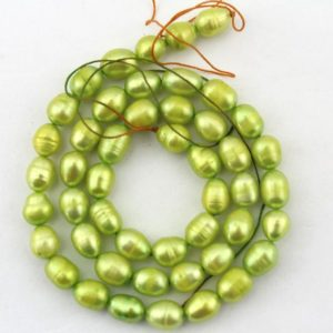 Shop Pearl Bead Shapes! 6-7mm Light green Potato Pearl Beads,Full strand,Freshwater Pearl Beads,loose pearls,Pearl for jewelry making-48 Pcs-15 inches–FS66 | Natural genuine other-shape Pearl beads for beading and jewelry making.  #jewelry #beads #beadedjewelry #diyjewelry #jewelrymaking #beadstore #beading #affiliate #ad