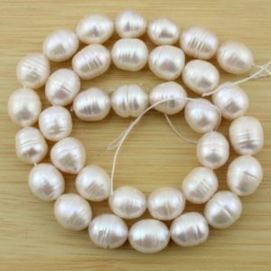 Shop Pearl Bead Shapes! Full strand 10-11mm Rice Pearl Beads,Natural Freshwater Pearl Beads,Pearl for jewelry making-28 Pieces—15.5 inches–FS33 | Natural genuine other-shape Pearl beads for beading and jewelry making.  #jewelry #beads #beadedjewelry #diyjewelry #jewelrymaking #beadstore #beading #affiliate #ad