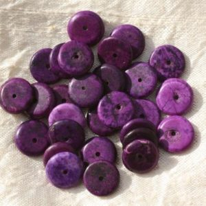 Shop Pearl Rondelle Beads! 20pc – Pearl Turquoise Rondelles 12 x 2-3mm purple 4558550016287 synthesis | Natural genuine rondelle Pearl beads for beading and jewelry making.  #jewelry #beads #beadedjewelry #diyjewelry #jewelrymaking #beadstore #beading #affiliate #ad