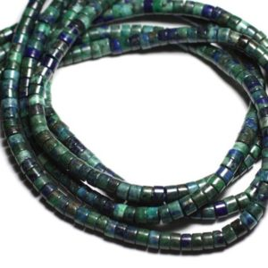 Shop Pearl Rondelle Beads! Yarn 39cm 115pc env – Stone Pearls – Chrysocolle Rondelles Heishi 6×3-4mm | Natural genuine rondelle Pearl beads for beading and jewelry making.  #jewelry #beads #beadedjewelry #diyjewelry #jewelrymaking #beadstore #beading #affiliate #ad