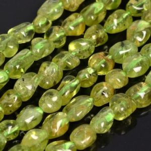 Shop Peridot Chip & Nugget Beads! Genuine Natural Peridot Loose Beads Grade AA Pebble Nugget Shape 6-8mm | Natural genuine chip Peridot beads for beading and jewelry making.  #jewelry #beads #beadedjewelry #diyjewelry #jewelrymaking #beadstore #beading #affiliate #ad