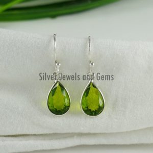 Shop Peridot Earrings! Natural Peridot Earrings-Handmade Silver Earrings-Teardrop Peridot Earrings-925 Sterling Silver Earrings -Gift for her-Dangle Drop Earrings | Natural genuine Peridot earrings. Buy crystal jewelry, handmade handcrafted artisan jewelry for women.  Unique handmade gift ideas. #jewelry #beadedearrings #beadedjewelry #gift #shopping #handmadejewelry #fashion #style #product #earrings #affiliate #ad