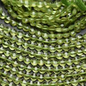 Shop Peridot Faceted Beads! 12.5 Inch Strand,Finist Quality,Natural Peridot Faceted Coins Shaped Beads. Size 4mm | Natural genuine faceted Peridot beads for beading and jewelry making.  #jewelry #beads #beadedjewelry #diyjewelry #jewelrymaking #beadstore #beading #affiliate #ad