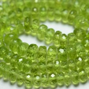 Shop Peridot Faceted Beads! 9 Inches Natural AA Peridot Rondelles Beads 4mm to 6mm Faceted Rondelle Gemstone Beads Superb Peridot Beads Semi Precious Beads No4102 | Natural genuine faceted Peridot beads for beading and jewelry making.  #jewelry #beads #beadedjewelry #diyjewelry #jewelrymaking #beadstore #beading #affiliate #ad