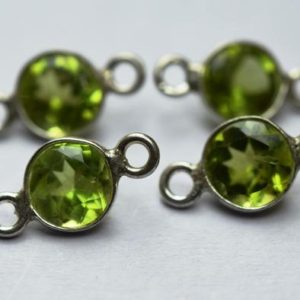 Shop Peridot Faceted Beads! 925 Sterling Silver,Natural Peridot Faceted Coins Shape Connector,15 Piece Of  12mm App. | Natural genuine faceted Peridot beads for beading and jewelry making.  #jewelry #beads #beadedjewelry #diyjewelry #jewelrymaking #beadstore #beading #affiliate #ad