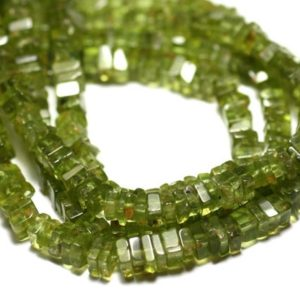 Shop Peridot Bead Shapes! 10pc – stone beads – Peridot square Heishi 3-4mm – 8741140008922 | Natural genuine other-shape Peridot beads for beading and jewelry making.  #jewelry #beads #beadedjewelry #diyjewelry #jewelrymaking #beadstore #beading #affiliate #ad