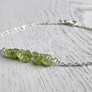 Shop Peridot Stones & Crystals! PERIDOT ANKLET – August Birthstone – Crystal Bar Anklet – Hippy Anklet – Raw Peridot Jewelry – Gift for Mom – Boho Anklet – Genuine Peridot | Natural genuine stones & crystals in various shapes & sizes. Buy raw cut, tumbled, or polished gemstones for making jewelry or crystal healing energy vibration raising reiki stones. #crystals #gemstones #crystalhealing #crystalsandgemstones #energyhealing #affiliate #ad