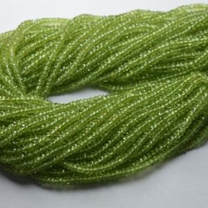 Shop Peridot Rondelle Beads! 13 Inches Strand,AAA Quality,Natural Peridot Facetes Rondelle,Size 3.5mm | Natural genuine rondelle Peridot beads for beading and jewelry making.  #jewelry #beads #beadedjewelry #diyjewelry #jewelrymaking #beadstore #beading #affiliate #ad