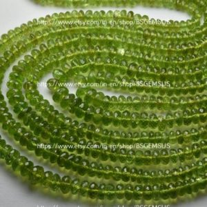 Shop Peridot Rondelle Beads! 8 Inches Strand,Natural Peridot Facetes Rondelle,Size 5-6mm | Natural genuine rondelle Peridot beads for beading and jewelry making.  #jewelry #beads #beadedjewelry #diyjewelry #jewelrymaking #beadstore #beading #affiliate #ad