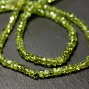 Shop Peridot Rondelle Beads! Wire 35cm 150pc approx – Stone Beads – Peridot Heishi Washers 3-5mm | Natural genuine rondelle Peridot beads for beading and jewelry making.  #jewelry #beads #beadedjewelry #diyjewelry #jewelrymaking #beadstore #beading #affiliate #ad