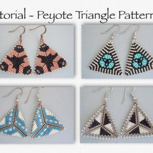 Shop Jewelry Making Tutorials! Peyote Earring Pattern, Seed Bead Pattern, Bead Triangle Pattern, Beading Tutorial, Peyote Stitch, DIY Earrings, Earring Tutorial | Shop jewelry making and beading supplies, tools & findings for DIY jewelry making and crafts. #jewelrymaking #diyjewelry #jewelrycrafts #jewelrysupplies #beading #affiliate #ad