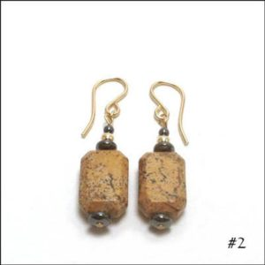 Shop Picture Jasper Earrings! Picture Jasper Earrings – Rectangular 'Emerald Cut' – 10 choices | Natural genuine Picture Jasper earrings. Buy crystal jewelry, handmade handcrafted artisan jewelry for women.  Unique handmade gift ideas. #jewelry #beadedearrings #beadedjewelry #gift #shopping #handmadejewelry #fashion #style #product #earrings #affiliate #ad