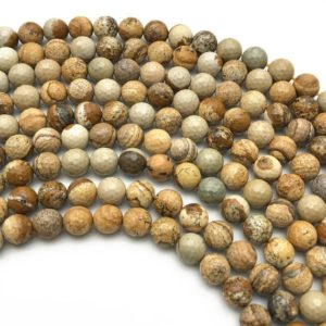 Shop Picture Jasper Faceted Beads! 10mm Faceted Picture Jasper Beads, Gemstone Beads, Wholasela Beads | Natural genuine faceted Picture Jasper beads for beading and jewelry making.  #jewelry #beads #beadedjewelry #diyjewelry #jewelrymaking #beadstore #beading #affiliate #ad