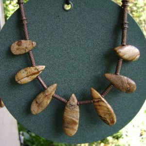 Shop Picture Jasper Necklaces! Picture Jasper Necklace | Natural genuine Picture Jasper necklaces. Buy crystal jewelry, handmade handcrafted artisan jewelry for women.  Unique handmade gift ideas. #jewelry #beadednecklaces #beadedjewelry #gift #shopping #handmadejewelry #fashion #style #product #necklaces #affiliate #ad