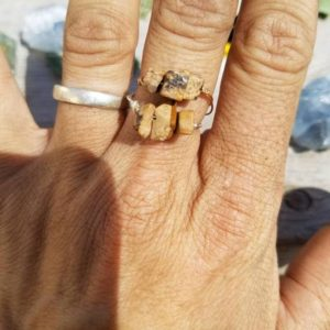 Shop Picture Jasper Jewelry! Picture Jasper Ring- Made To Order Custom Size, Dainty Crystal Ring | Natural genuine Picture Jasper jewelry. Buy crystal jewelry, handmade handcrafted artisan jewelry for women.  Unique handmade gift ideas. #jewelry #beadedjewelry #beadedjewelry #gift #shopping #handmadejewelry #fashion #style #product #jewelry #affiliate #ad