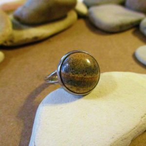 Shop Picture Jasper Rings! Picture Jasper Ring | Stone Rings | Brown Stone Ring | Landscape Jasper | Jasper Jewelry | Stone Jewelry | Womens Rings | Small Brown Rings | Natural genuine Picture Jasper rings, simple unique handcrafted gemstone rings. #rings #jewelry #shopping #gift #handmade #fashion #style #affiliate #ad