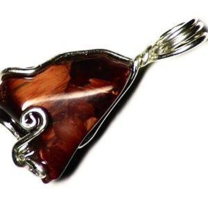 Shop Pietersite Pendants! Red Pietersite Pendant, Pietersite Necklace, Orange Pietersite in Sterling Silver, Genuine Pietersite Jewelry, Shiny Real Gemstone Necklace | Natural genuine Pietersite pendants. Buy crystal jewelry, handmade handcrafted artisan jewelry for women.  Unique handmade gift ideas. #jewelry #beadedpendants #beadedjewelry #gift #shopping #handmadejewelry #fashion #style #product #pendants #affiliate #ad