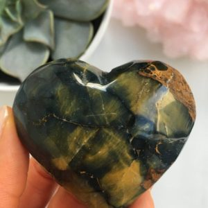 Shop Pietersite Stones & Crystals! Rare Pietersite Heart, Pietersite | Natural genuine stones & crystals in various shapes & sizes. Buy raw cut, tumbled, or polished gemstones for making jewelry or crystal healing energy vibration raising reiki stones. #crystals #gemstones #crystalhealing #crystalsandgemstones #energyhealing #affiliate #ad
