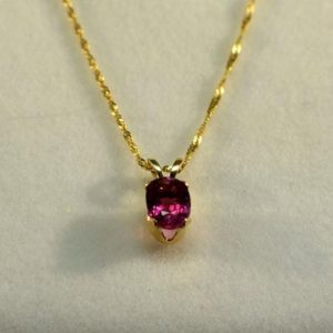 Shop Pink Tourmaline Pendants! Pink Tourmaline Pendant In Gold, Genuine Gemstone 7x5mm Oval Set in 10kt Yellow Gold with 18inch Chain Included | Natural genuine Pink Tourmaline pendants. Buy crystal jewelry, handmade handcrafted artisan jewelry for women.  Unique handmade gift ideas. #jewelry #beadedpendants #beadedjewelry #gift #shopping #handmadejewelry #fashion #style #product #pendants #affiliate #ad