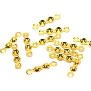 Shop Bead Tips & Knot Covers! Polished Gold Plated Fold Over Crimps Bead , 4×18 mm Knot Tip Connectors 2 Loop  ,  G202 | Shop jewelry making and beading supplies, tools & findings for DIY jewelry making and crafts. #jewelrymaking #diyjewelry #jewelrycrafts #jewelrysupplies #beading #affiliate #ad