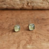 Green Prehnite Studs – Sterling Silver – Prehnite Posts Earrings – Green Silversmith Posts | Natural genuine Gemstone jewelry. Buy crystal jewelry, handmade handcrafted artisan jewelry for women.  Unique handmade gift ideas. #jewelry #beadedjewelry #beadedjewelry #gift #shopping #handmadejewelry #fashion #style #product #jewelry #affiliate #ad
