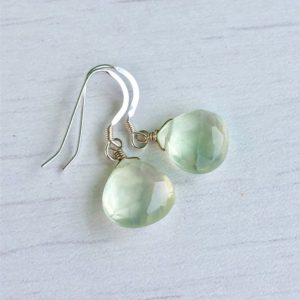 Shop Prehnite Earrings! Prehnite Earrings, Green Earrings, Summer Earrings, Small Earrings, Mint Green Earrings, Minimalist Earrings, Boho Drop Earrings, Peridot | Natural genuine Prehnite earrings. Buy crystal jewelry, handmade handcrafted artisan jewelry for women.  Unique handmade gift ideas. #jewelry #beadedearrings #beadedjewelry #gift #shopping #handmadejewelry #fashion #style #product #earrings #affiliate #ad