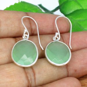 Shop Prehnite Earrings! Prehnite Earrings,Green Stone Earrings,Prehnite Jewelry,Oval Stone,Sterling Silver Earrings With Stone,Gemstone Silver Earrings,Boho Jewelry | Natural genuine Prehnite earrings. Buy crystal jewelry, handmade handcrafted artisan jewelry for women.  Unique handmade gift ideas. #jewelry #beadedearrings #beadedjewelry #gift #shopping #handmadejewelry #fashion #style #product #earrings #affiliate #ad