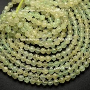 Shop Prehnite Faceted Beads! 16 Inches Strand,Natural Prehnite Faceted Rondelle,Size 5.5-6mm | Natural genuine faceted Prehnite beads for beading and jewelry making.  #jewelry #beads #beadedjewelry #diyjewelry #jewelrymaking #beadstore #beading #affiliate #ad
