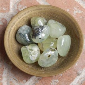 Shop Tumbled Prehnite Crystals & Pocket Stones! Polished Ethiopian Tumbled Prehnite | Natural genuine stones & crystals in various shapes & sizes. Buy raw cut, tumbled, or polished gemstones for making jewelry or crystal healing energy vibration raising reiki stones. #crystals #gemstones #crystalhealing #crystalsandgemstones #energyhealing #affiliate #ad