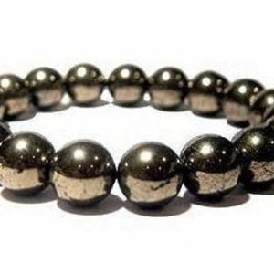 8mm Pyrite Bracelet, Healing Bracelet, Protection Bracelet, Chakra Bracelet, Mens Bracelet, Bracelets for Women, Anxiety Relief Anxiety | Natural genuine Array bracelets. Buy handcrafted artisan men's jewelry, gifts for men.  Unique handmade mens fashion accessories. #jewelry #beadedbracelets #beadedjewelry #shopping #gift #handmadejewelry #bracelets #affiliate #ad